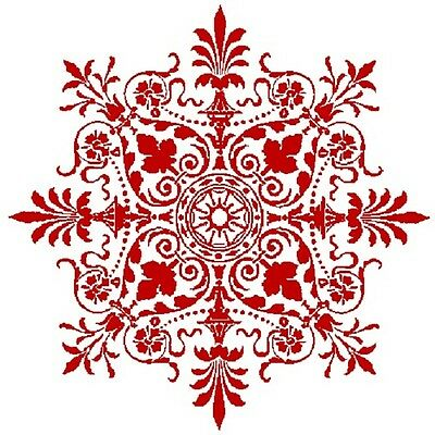 30 Custom Red Victorian Snowflake Personalized Address Labels