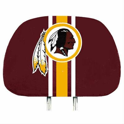 Washington Redskins 2-Pack Color Print Auto Car Truck Headrest Covers  - Redskins Colors