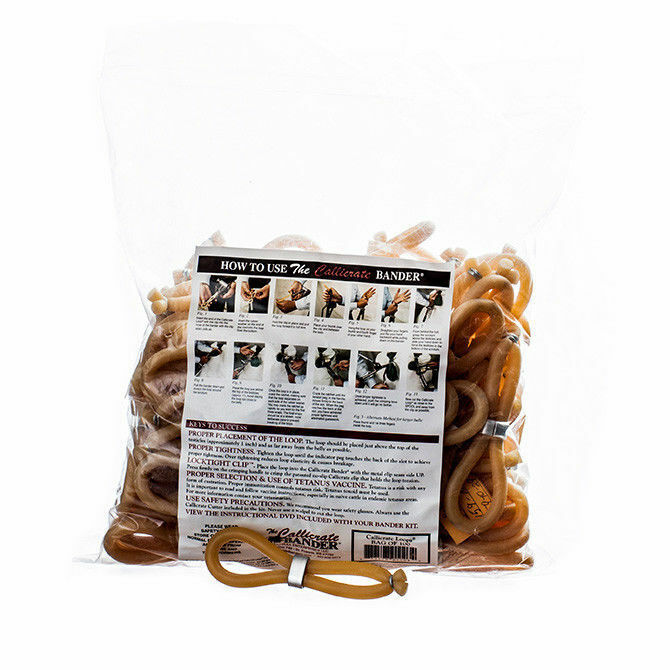 Callicrate No Bull Castrating Bands 100 Count ES10 Cattle Livestock Easy to Use