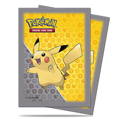 Pokemon Pikachu Ultra Pro Deck Protector card sleeves 65 sleeves new