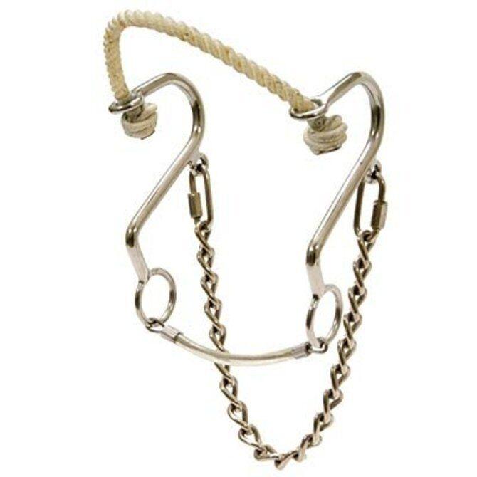 S Hackamore Rope Nose Hackamore Bit