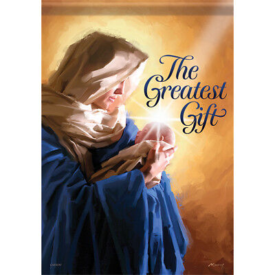 """JESUS the Greatest Gift House Flag  28"""" x 40"""" Double sided by Carson Christmas"""