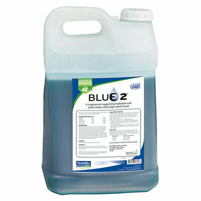 Techmix Blue 2 Swine Supporting Hydration And Water In-take For Pigs 2.5 Gallon