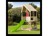 TP Lookout Tower Wooden Play House with Slide NEW boxed.