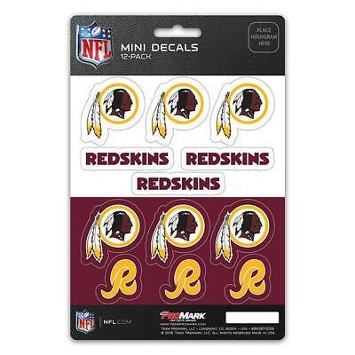Washington Redskins Mini Decal 12 Pack  NFL Sticker Emblem C