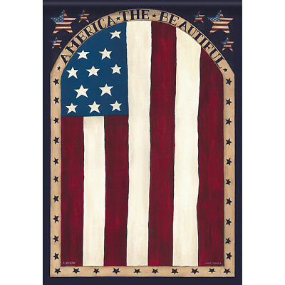 """Beautiful America Patriotic House Flag  28"""" x 40"""" Double sided Flag by Carson"""