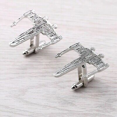 Star Wars - Cufflinks Set - Silver - Gift - Large - Spaceship - Jedi
