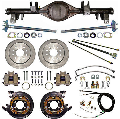 CURRIE 65-70 IMPALA REAR END & DISC BRAKES,LINES,PARKING BRAKE CABLES,AXLES,ETC.