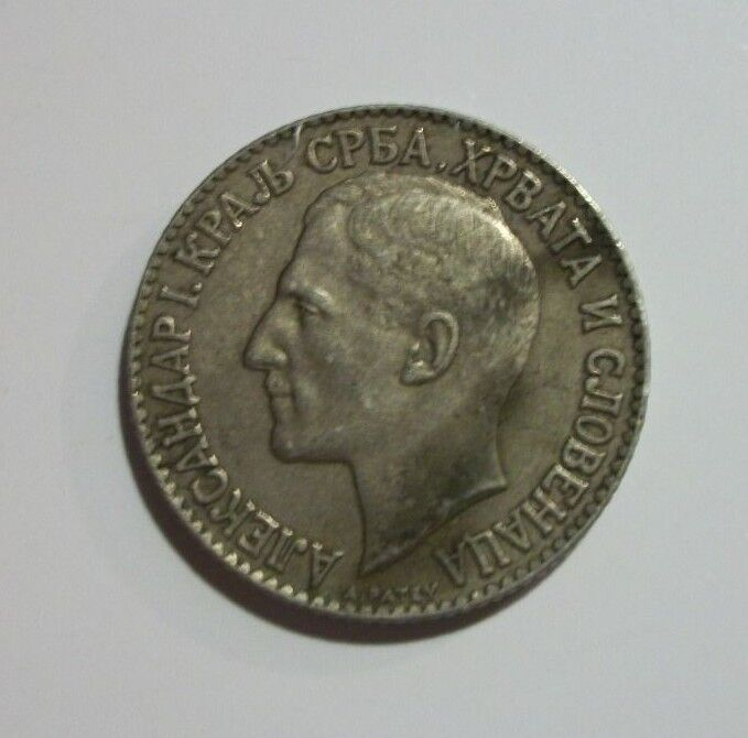 Yugoslavia 1925 2 Dinara Coin
