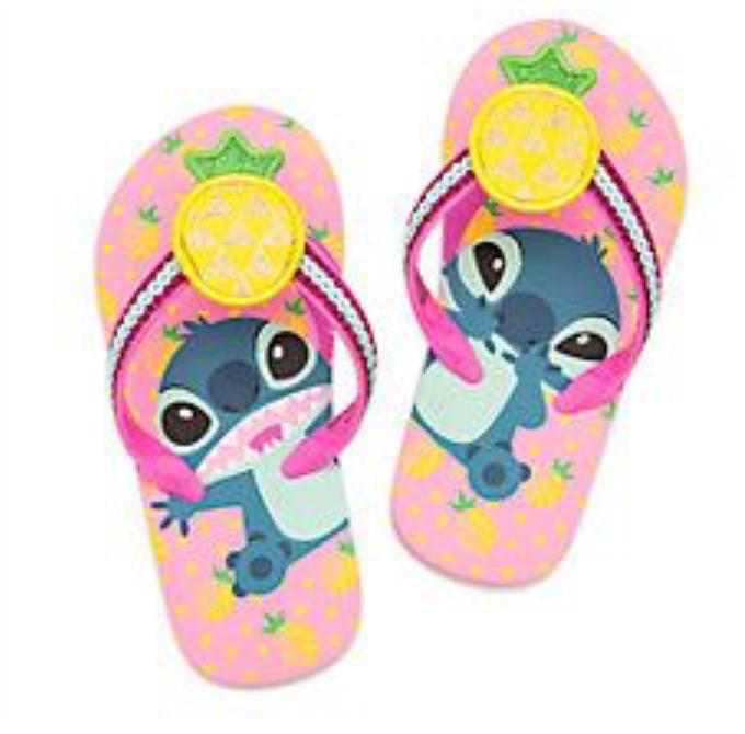 Disney Store Toddler Girl's Lilo & Stitch Flip Flops Size Me