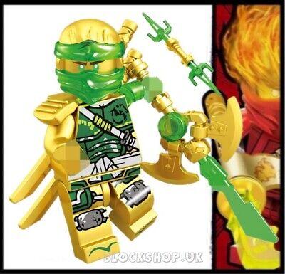 NINJAGO RARE - LEGENDARY GOLD CRYSTAL LlOYD HANDS OF TIME fits lego figure (L3)