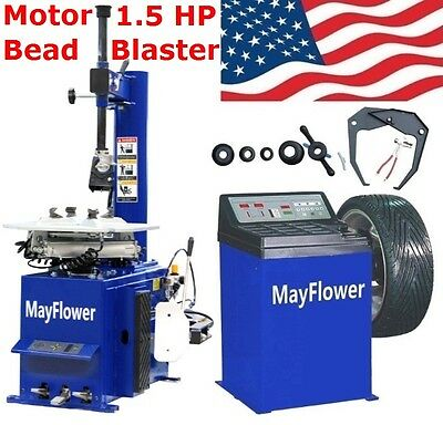 Mayflower 1.5 HP Tire Changer Wheel Changers Machine Combo Balancer Rim 950 -