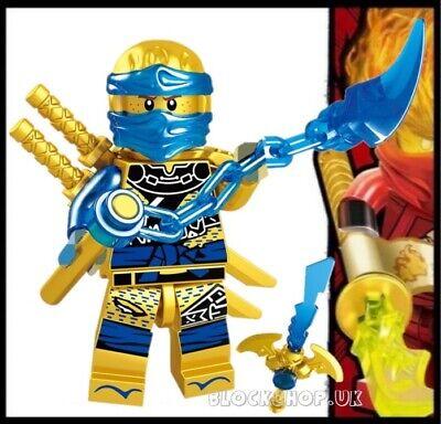 NINJAGO RARE - LEGENDARY GOLD CRYSTAL JAY - HANDS OF TIME fits lego figure (L8)