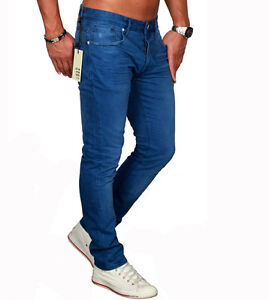 Jack & Jones Jeans Gr.29 - 36 Blue Beige TIM Chino Hose Denim Slim Fit NEU