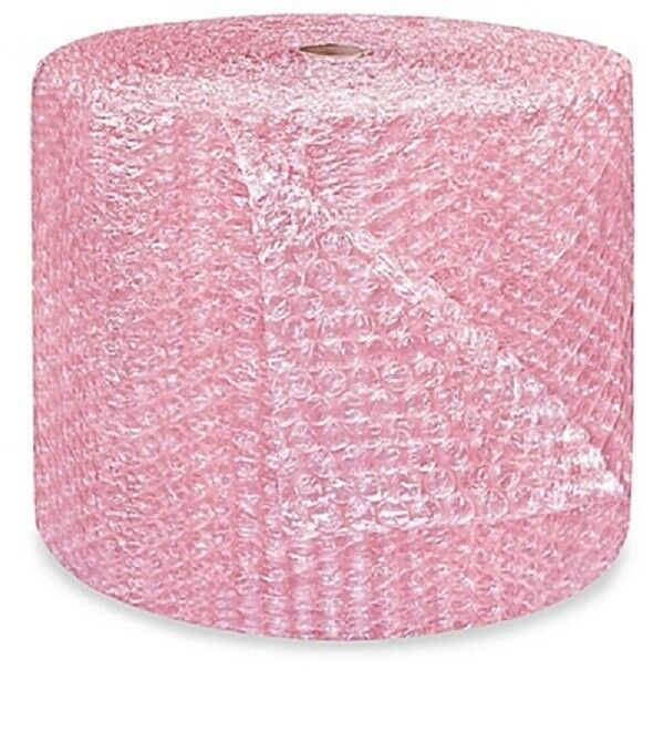 "1/2"" Large Bubble Wrap Cushioning Anti-Static Roll Padding 125"