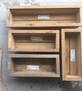 Garden planter boxes, never used! Best offer!