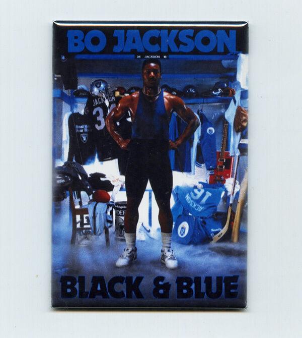 "BO JACKSON / BLACK & BLUE - 2"" x 3"" POSTER MAGNET costacos brothers nike vintage"