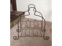 Gunmetal Wrought Iron Wine Rack - Holds 6 bottles - NEW!
