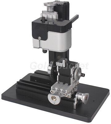 36w Mini Aluminum Metal Drilling Machine Dividing Plate Indexing Diy Wood Gift