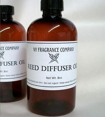 Reed Diffuser Oil Refill - RED APPLE & SPICE FRAGRANCE - 8 oz
