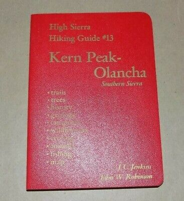 - Vtg 1979 High Sierra Hiking Guide #13 w/ Original  Map - KERN PEAK - OLANCHA