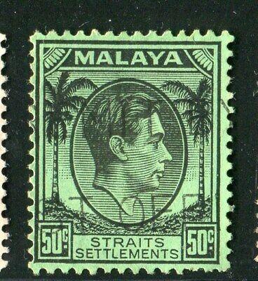 D261479 Malaya Straits Settlements VFU King George VI 50 c. 1937-41 Sc. 249