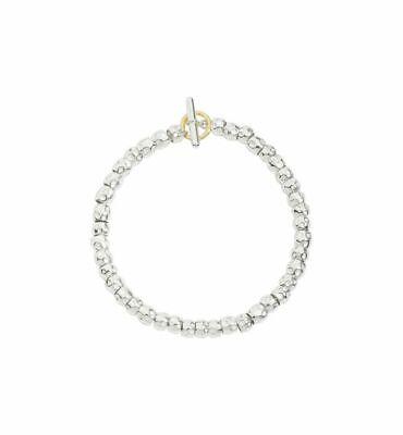 Bracciale Dodo Granelli DKB/3/1 Argento Oro Giallo Bracelet Mis 16 17 18 20