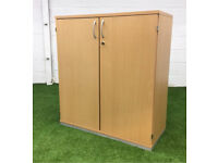 Beech mid height cupboard cheap office furniture wood
