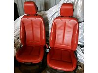 BMW F36 F20 4 SERIES 3 SERIES RED KENDRA LEATHER SEATS INTERIOR SPORT TRIM UPHOLSTERY