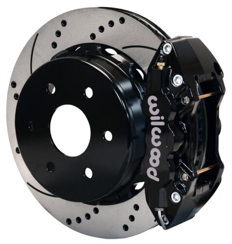 "Wilwood Disc Brake Kit,rear,cadillac Escalade,esv,ext,9838,14"",black,drilled,new"