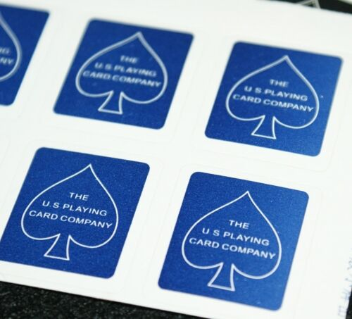US Playing Card Box Labels (BLUE -- 40 labels)  plus TMGS routine     TMGS
