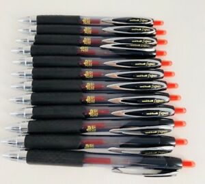 Uni-Ball Signo Ultra Micro 207 Retractable Gel Pen, Red Ink, Lot of 12