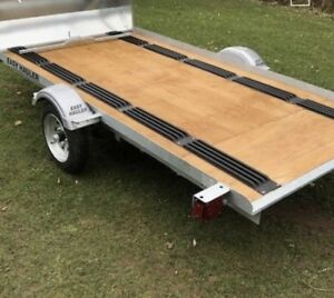 Easy Hauler 10' Galvanized Single Snowmobile Trailers