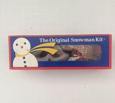 VTG The Original Snowman Kit Made In America Corncob Pipe Buttons Scarf Coal NIP - Snowman Kit