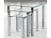 Glass coffee tables