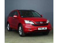 Honda CRV EX I-Dtec 2.2 Diesel Auto pan-roof leather-seats sat-nav camera HPI Clear 1-owner CR-V