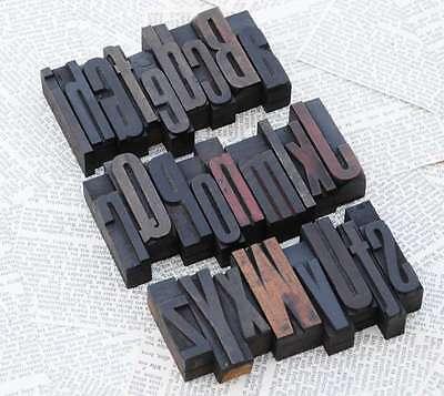 A-z Mixed Alphabet 2.44 Letterpress Wooden Printing Blocks Wood Type Vintage