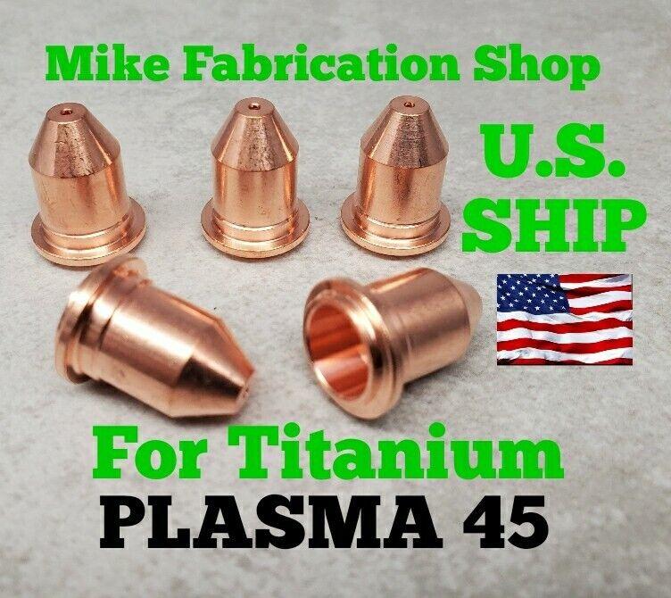 (5 Piece) Nozzles for Titanium Plasma45 Plasma 56255  56811