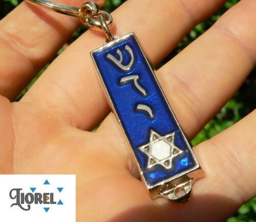 Metal Mezuzah Keychain w/ Star of David & Biblical Psalms Book Prayer, Judaica