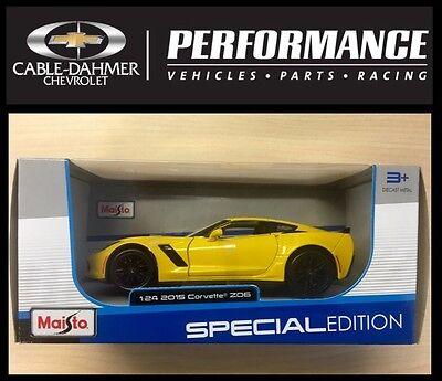 24 Yellow Die Cast Car (2015 Chevrolet Corvette ZO6  Yellow  MAISTO Die Cast Car 1:24 BRAND NEW IN)
