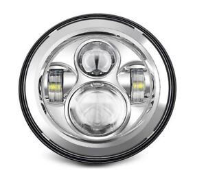 LED Headlight -  For Harley Davidson Motorcycle w/ Adapter Ring