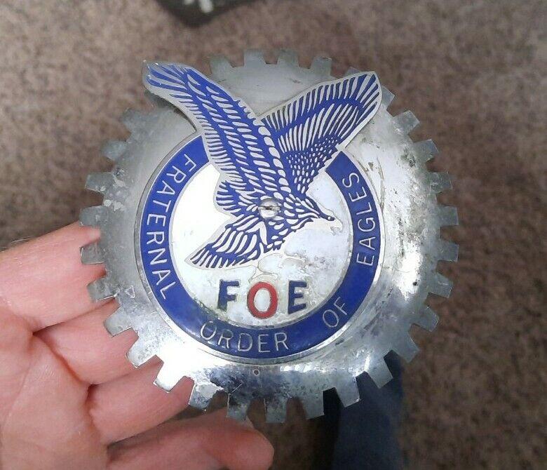 Vintage Fraternal Order of Eagles FOE  ✨ Grill Badge