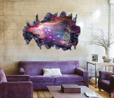 Galaxy Novelty 3D Removable Meteorite Vinyl Decal Wall Sticker Mural DIY Art Hot