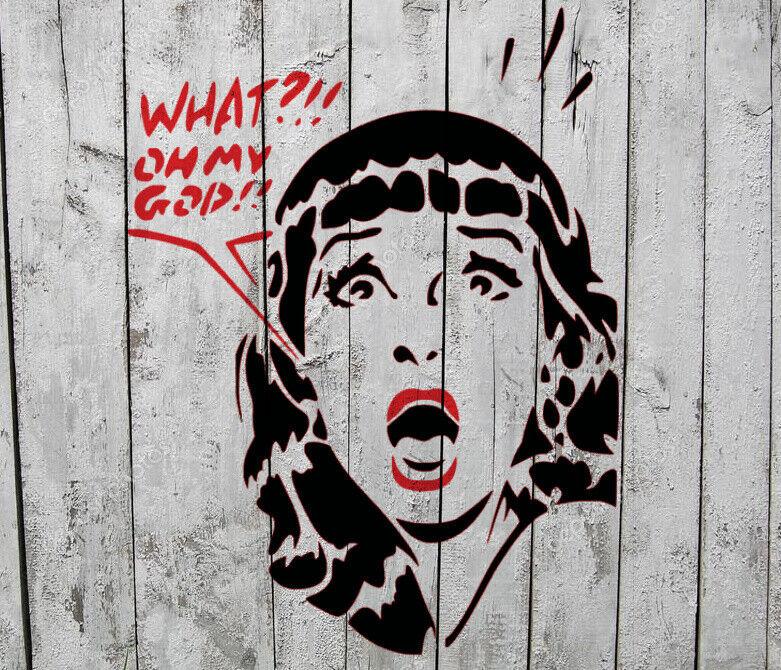 Schablone - Scream Girl OMG Mädchen - 25x19 cm - Stencil Airbrush Sonstige