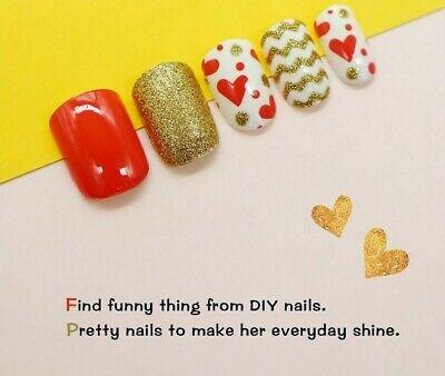 Press-on False Nail Tips For Kids Sweet Design Artificial Children Nails Art Kit