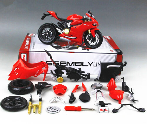 Maisto 1:12 Ducati 1199 Panigale Assembly line KIT DIY Motor