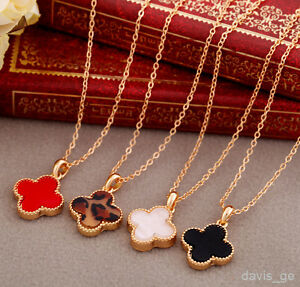 8-styles-lucky-and-love-golden-pendant-Collarbone-chain-Necklace-girls-lady-EJM