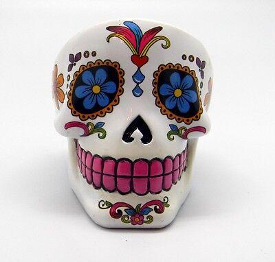 White Sugar Skull Mexican Day of the Dead Dia de Los Muertos Ashtray
