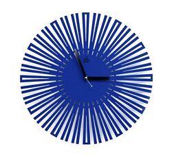 Blue Sun Large Modern Wall Clock Steel Home Decor Clock Art Unique Design Gift