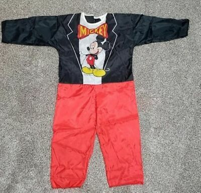 Vintage Ben Cooper Mickey Mouse Halloween Polyester Fabric Costume Size 4-6